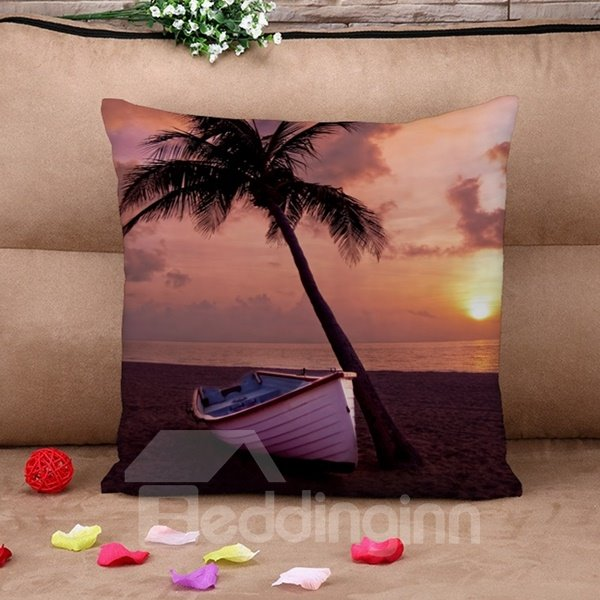 Relaxing Seaside Landscapes Print Throw Pillow Case