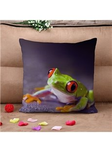 Lovely Tree Frog Print Throw Pillow Case
