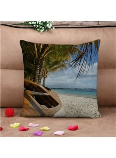 Peaceful Seaside Landscapes Print Throw Pillow Case