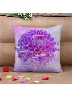 Dreamy Purple Hydrangea Print Throw Pillow Case