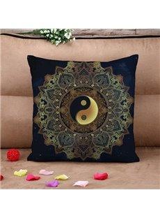 Chic Tai Chi Icon Print Throw Pillow Case