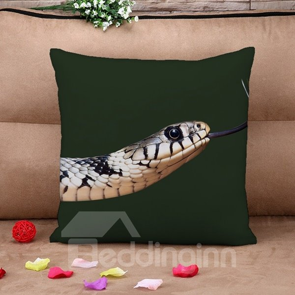 Stunning Snake Print Square Throw Pillow Case
