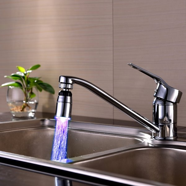 Colorful 3 Colors Temperature Sensor Kitchen Faucet Head