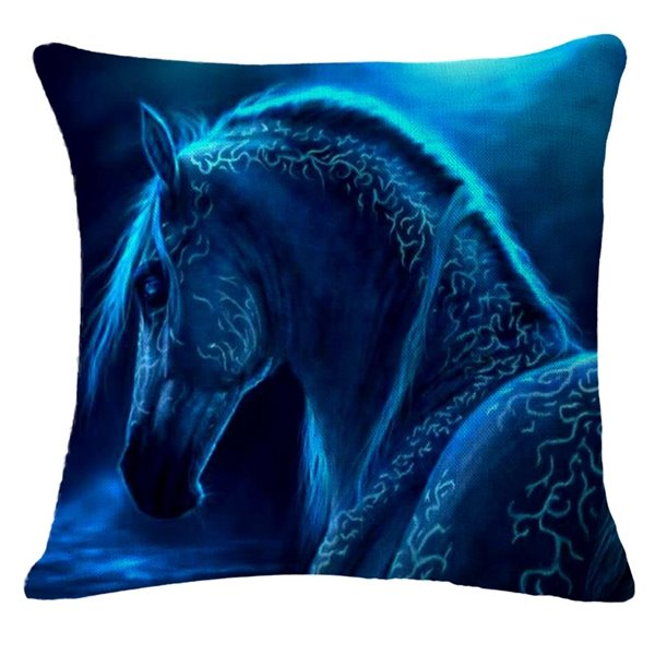 Fancy Imaginary Horse Print Throw Pillow Case