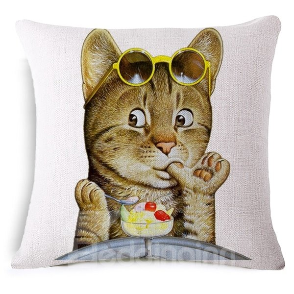 Imaginative Design Funny Animal Print Throw Pillow Case