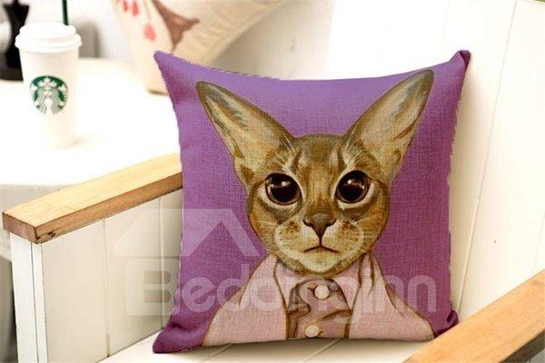 Popular Likable Kitty Print Throw Pillow Case