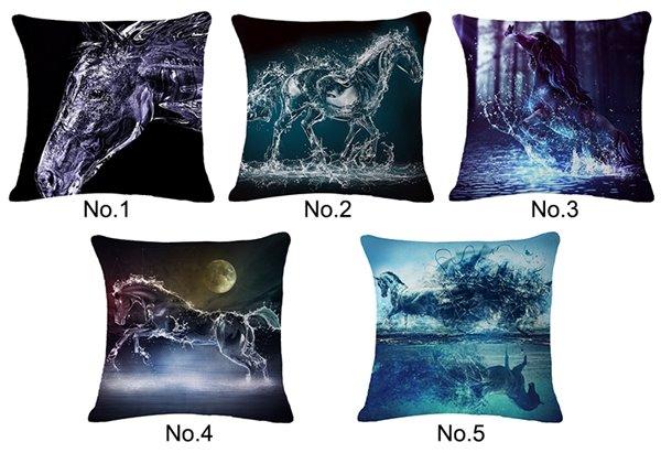 Magnificent 3D Horse Print Throw Pillow Case