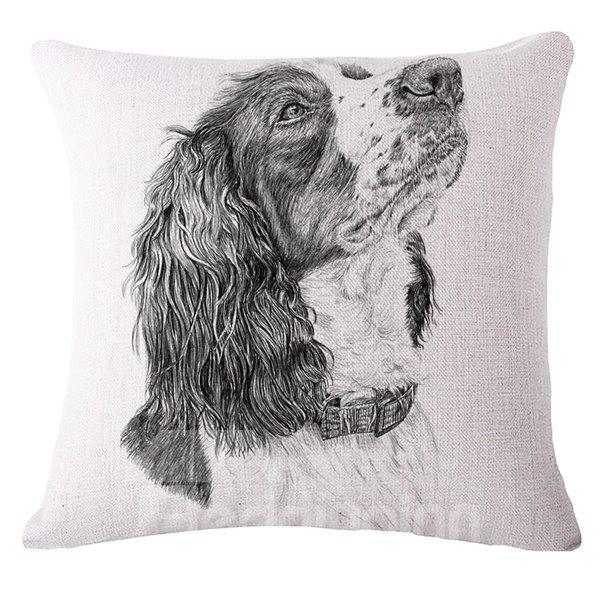 Retro Style Sketch Animal Print Throw Pillow Case