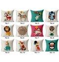 Faddish Lovely Cartoon Animal Print Throw Pillow Case