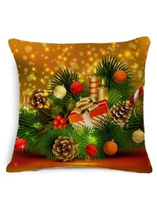 Ornate Christmas Decoration Reactive Printing Throw Pillow Case