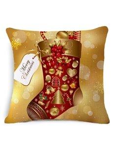 Gorgeous Christmas Stocking Print Throw Pillow Case
