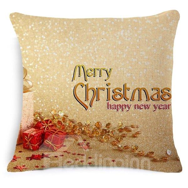 Wonderful Gift Box Print Aureate Throw Pillowcase
