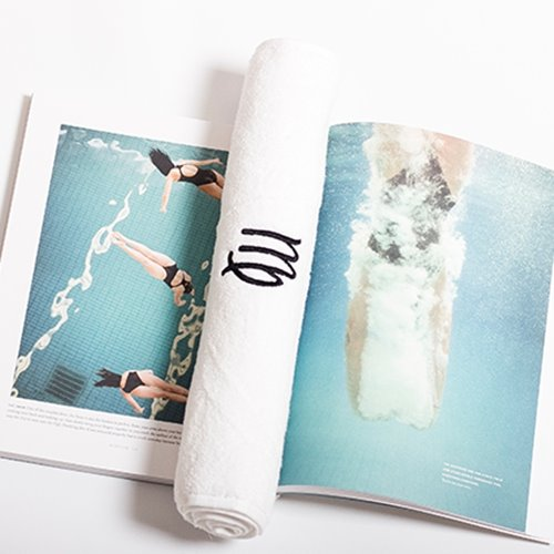 Super Absorbent White with Symbol of Virgo Face & Hand Towel
