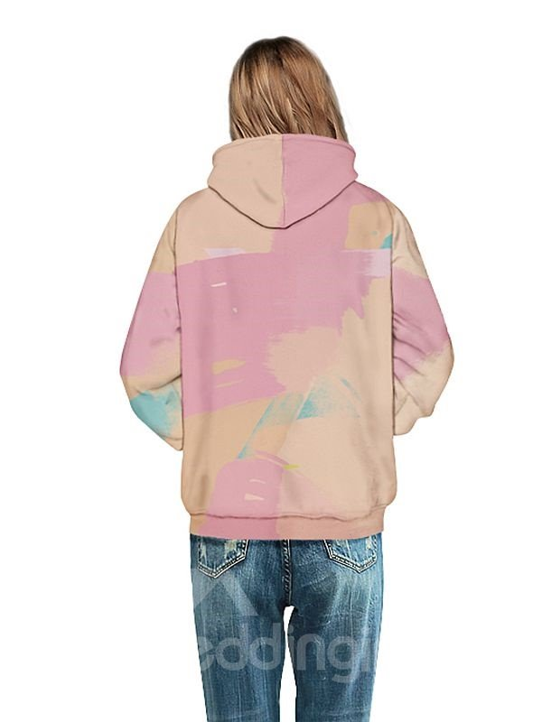 Long Sleeve Abstract Lip Pattern 3D Painted Hoodie