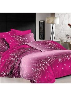 Dazzling Flowering Vine of Crystal Print Cotton 2-Piece Pillow Cases
