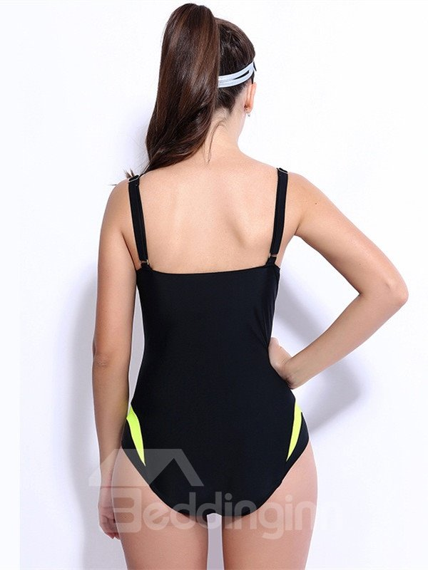 Female Push Up Swimwear with Falsies and Free Wire Bra Simple Style Tankini