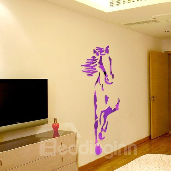 Amazing Acrylic Cool Horse Shape Mirror Home Decorative