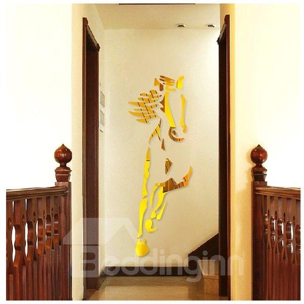 Amazing Acrylic Cool Horse Shape Mirror Home Decorative