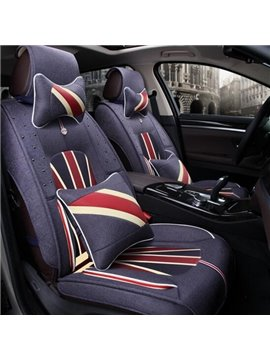 Union Jack Popular Design Pattern Durable Universal Five Car Seat Cover