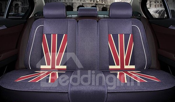 71 Union Jack Popular Design Pattern Durable Universal Five Car Seat Cover
