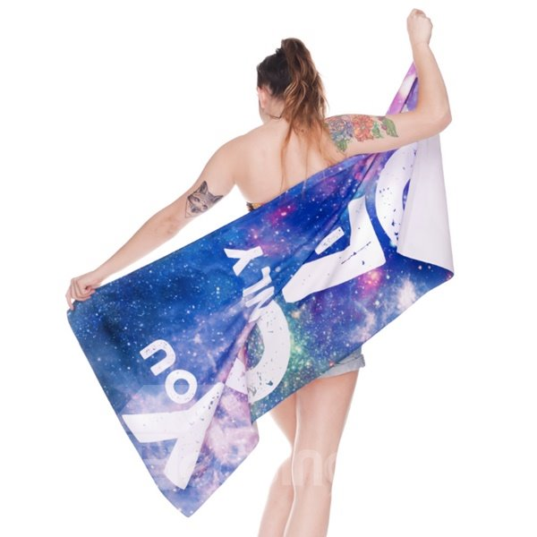 Colored Space 3D Printing Square Beach Towel & Bath Towel