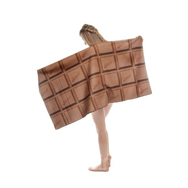Sweet Chocolate 3D Printing Square Beach Towel & Bath Towel