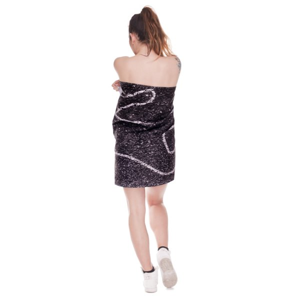 Human Shape 3D Printing Square Beach Towel & Bath Towel