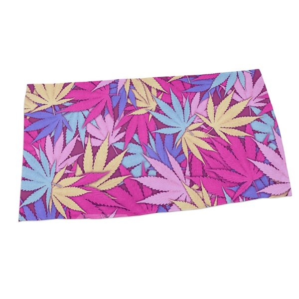 Colorful Maple Leaves 3D Printing Square Beach Towel & Bath Towel