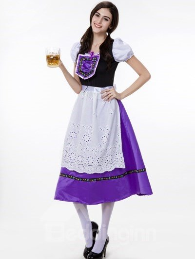 Beautiful Purple Design With White Skirt Modeling Cosplay Costumes