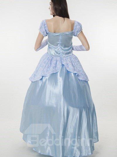 Bright Blue Color Cinderella Cloth Special Size Cosplay Costumes