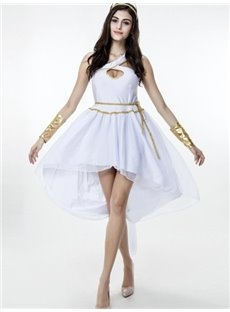 Goddess Modeling With Texture White Cloth Cosplay Costumes