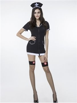 Sexy Nurse Cloth Style With Lace Stock Cosplay Costumes