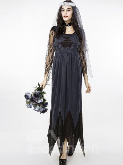 Ghost Bride With Charming Lace Headwear Cosplay Costumes