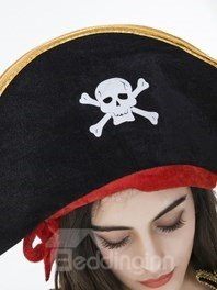 Cool Pirate Style With Special Black Hat Cosplay Costumes