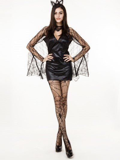 Sexy Lace Bat Queen Style Common Size Cosplay Consumes