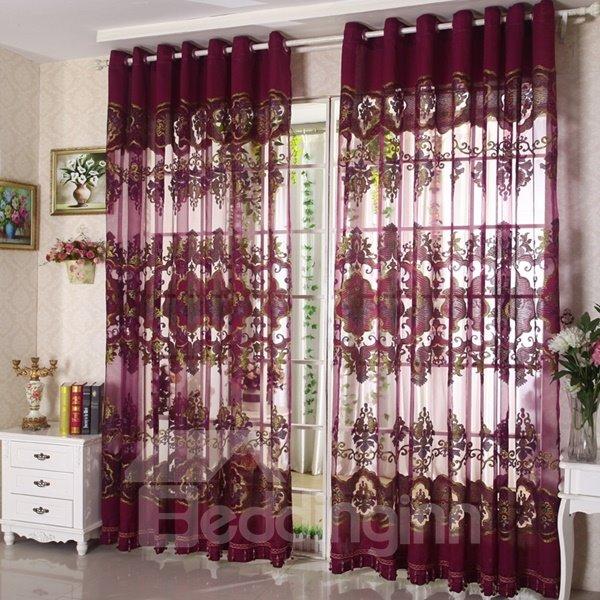 Classical Luxury Purple Blackout Custom Sheer Curtain