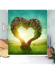 Romantic Love Tree Printing 3D Roller Shades