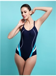 Female U-neck Simple Style Free Wire Tankini