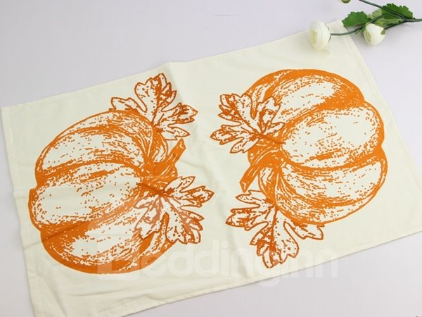 Huge Vivid Pumpkin Printing Face & Hand Towel