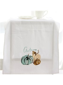 Watercolor Pumpkin Printing Face & Hand Towel