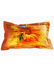 Beautiful Sunflower 3D Printed 2-Piece Pillow Cases