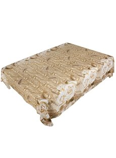 Luxury 3D Golden Rose Printed Flat Sheet