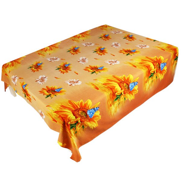 Pretty Charming Sunflower Print 3D Flat Sheet
