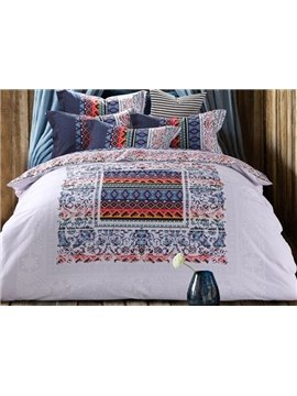 Chic Ethnic Style 4-Piece Cotton Duvet Cover Sets