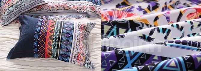 Chic Ethnic Style 4-Piece Cotton Duvet Cover Sets