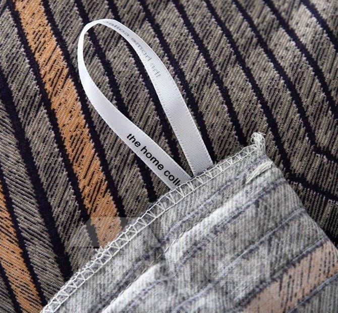 Fancy Minimalist Style 4-Piece Cotton Duvet Cover Sets