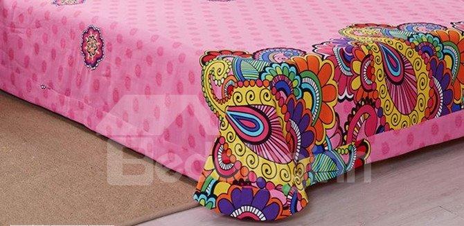 Fancy Bohemian Style 4-Piece Cotton Duvet Cover Sets