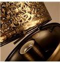 Classic Beautiful Iron Frame Cylinder Shape Decorative Table Lamp