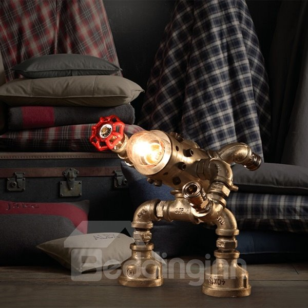 Amazing Creative Iron Frame Human Shape Table Lamp