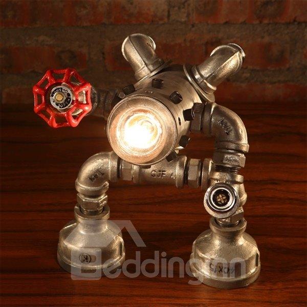 Amazing Creative Iron Frame Human Shape Table Lamp